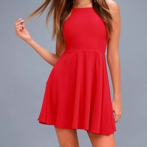 NWT. Lulu's Call to Charms Skater Dress